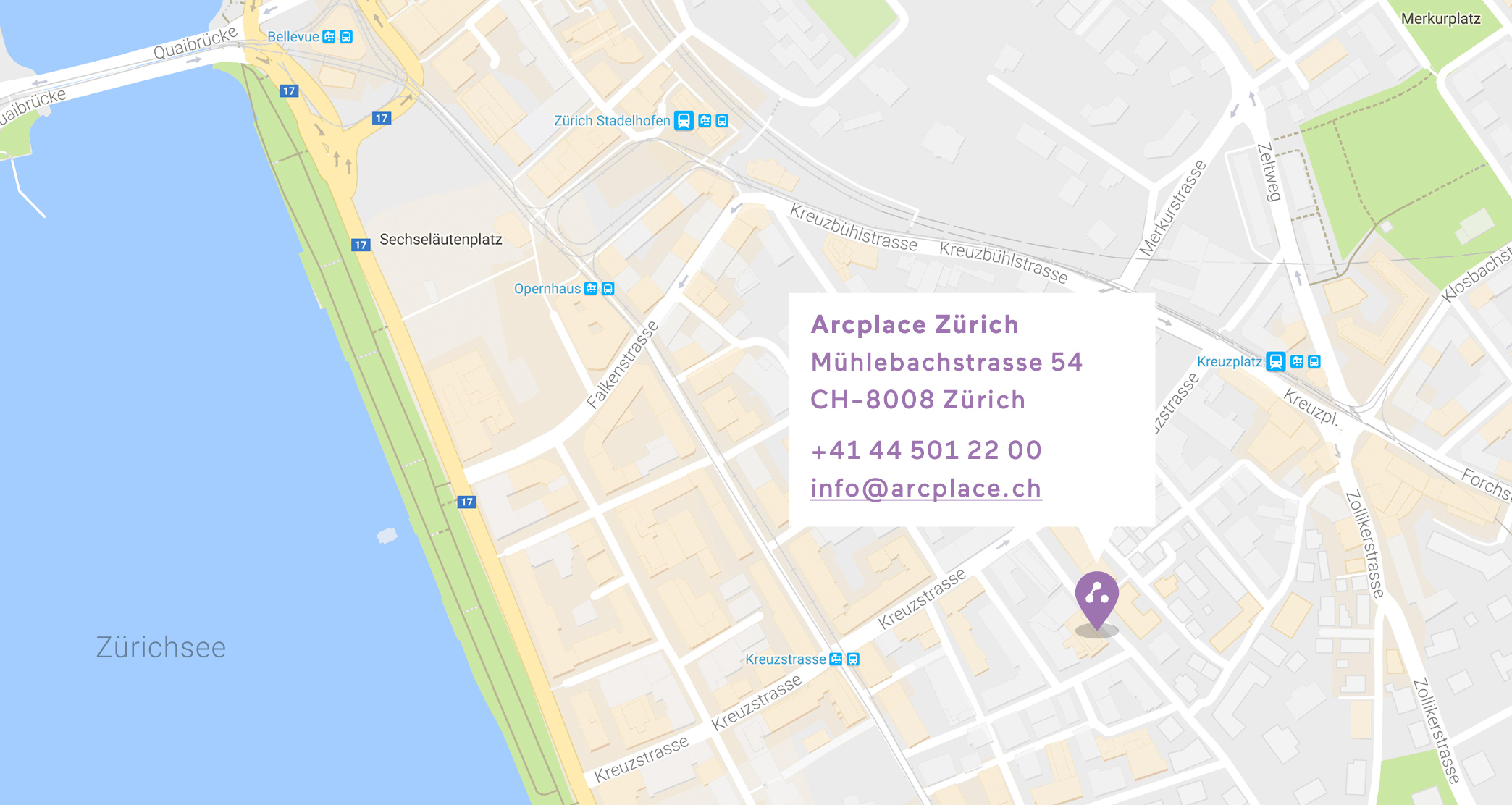 Map Arcplace Zürich